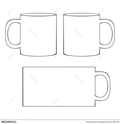 mug design template in vector coffee mug template blank cup illustration 41067041