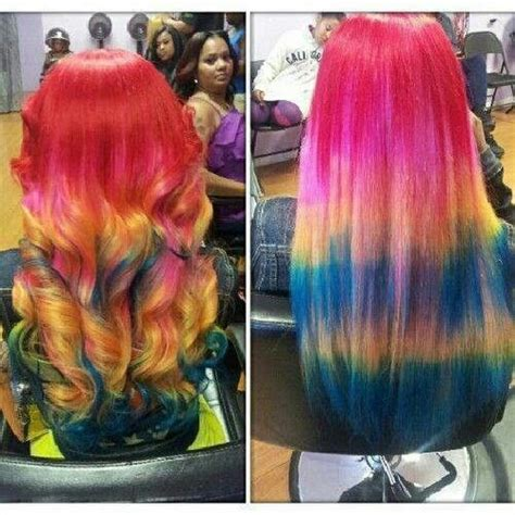 coloured hair extensions hairstyles colorful weave hairstyles long hair curls pretty let