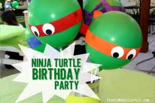 Ninja Turtle Birthday Decorations Teenage Mutant Ninja Turtle Birthday Party