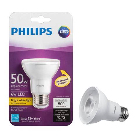 Philips 50W Equivalent Bright White PAR20 SO Household LED Flood Light Bulb (4 Pack) 463620