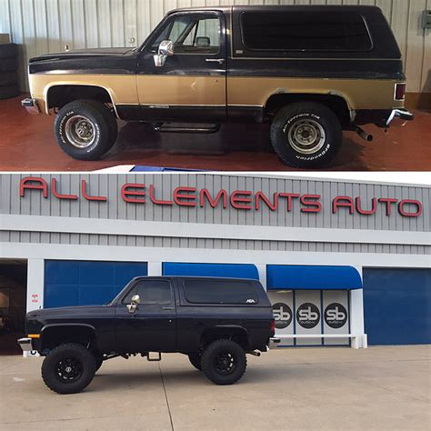 Black Out Blazer 1989 chevrolet k5 blazer build all elements auto and marine
