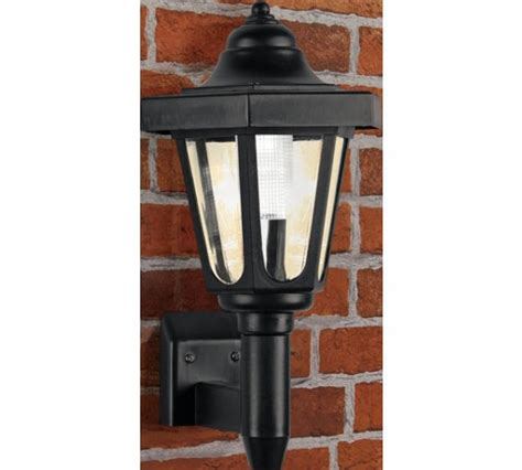 Argos Outdoor Lighting Buy Home Black Solar Outdoor Wall Light At Argos Co Uk Your Shop For Solar Lighting