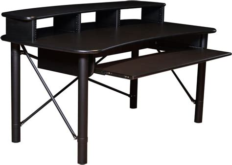 Studio Desk Rab Audio Prorak 61 Black Trim Sweetwater Audio Studio Desk