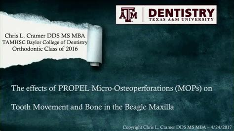 Mba 6340 1003 Lecture by American Association Of Orthodontists