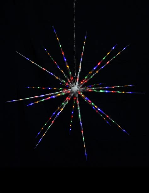 led multi colour 3d starburst 1m christmas lights