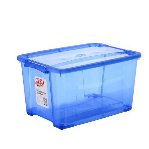 Bunnings Bathtubs by Ezy Storage 92l Blue Storage Tub Bunnings Warehouse