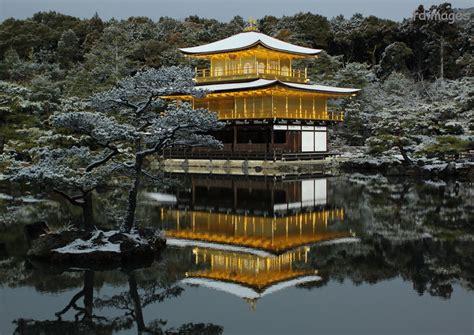 Pavillon Japan by Kyoto Images 京都 の 写真 Kinkaku Ji Golden Pavillon Winter