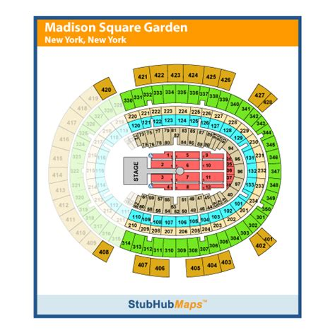 map of madison square garden