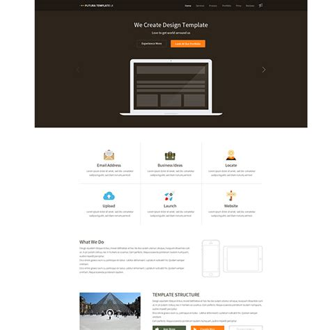 Home Pages Templates futura multipurpose flat home page template freebie psdfinder co