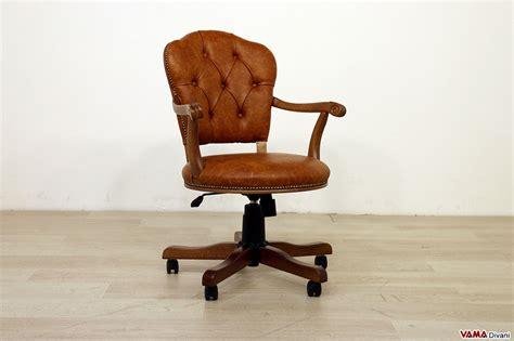 poltrona piccola sedia poltrona direzionale da ufficio in pelle con girevole