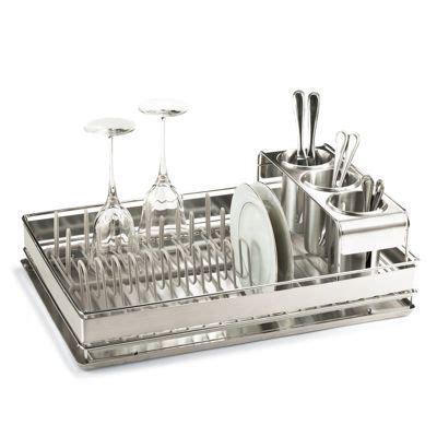 basics dish rack  stainless steel   rack