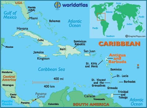 antigua and barbuda facts on largest cities, populations