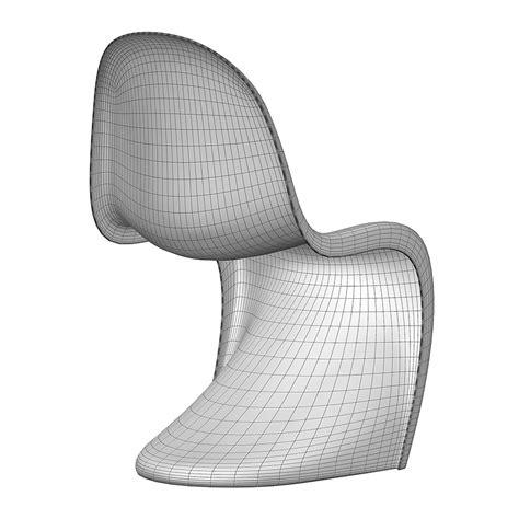 sedia 3d vitra panton chair free 3d model