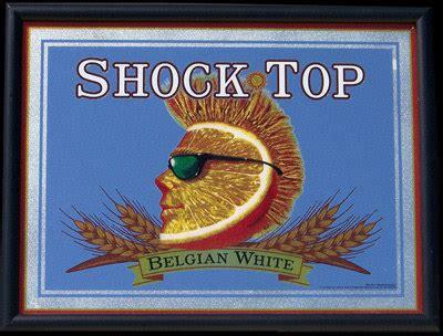 shock top bar shock top belgian white ale bar mirror