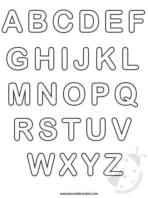 lettere dell alfabeto tutte le lettere dell alfabeto