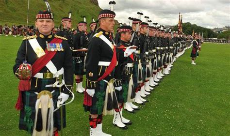 Bargin Basement by Exclusive Scots Troops May Parade In Cheap Kilts Made