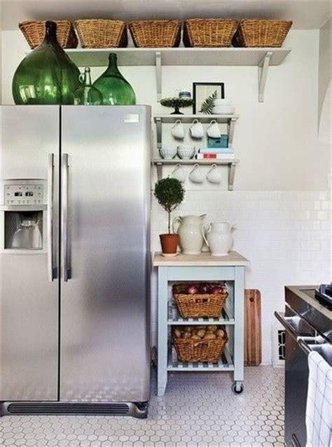 storage above kitchen cabinets small kitchen storage put baskets above the cabinets