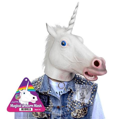 Evil Home Decor Magical Unicorn Mask Archie Mcphee Amp Co