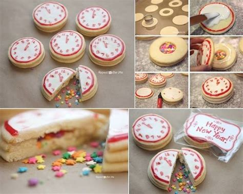 new years confetti clock cookies diy alldaychic