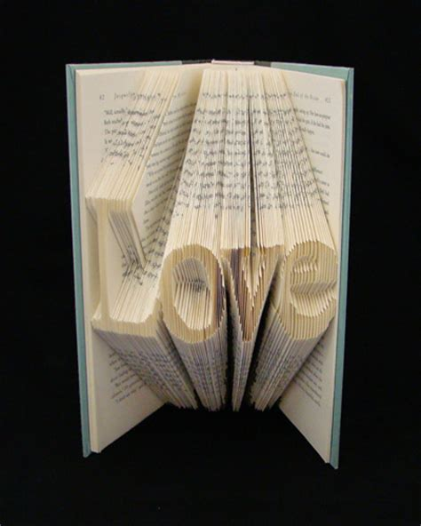 Book Origami Letters - folded books