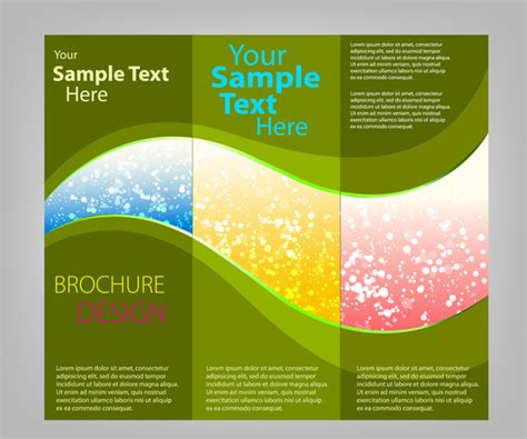 trifold brochure templates free vector in adobe