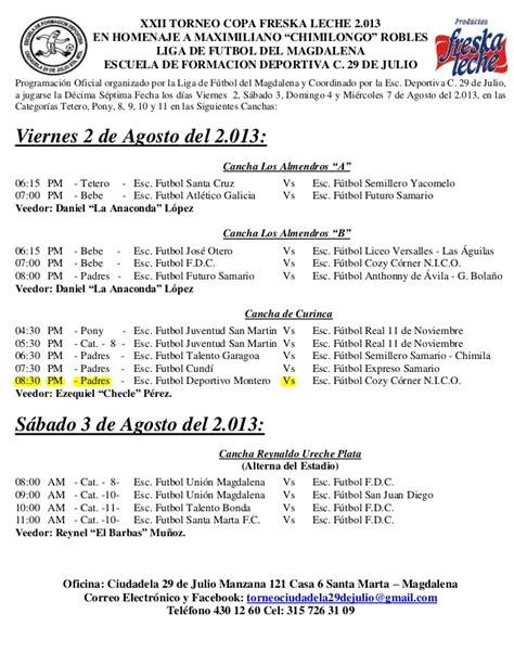 gu 237 a de setas promociones el correo bizkaia programacion copa yogurcito agosto 2 al 7 2013 ciudadela 29 julio