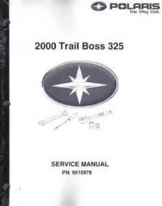 2000 polaris trail boss 325 atv service manual