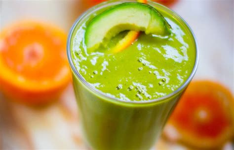 Orange Avocado Green Detox Juice by One Green Food You Should Probably Be Daily 3