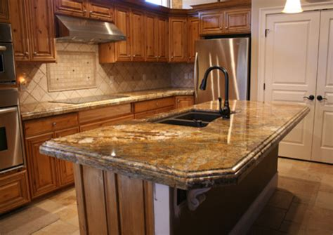 Thickness Of Granite Countertop by Golden Granite Countertops Traditional Kitchen