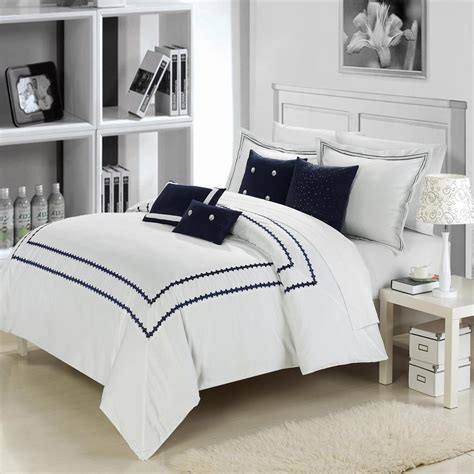 total fab navy blue and white comforter and bedding sets