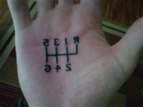 shift pattern hand tattoo 5 speed shift pattern tattoo gears pinterest