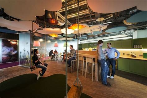 swing inside google cus in dublin dazzles with color and creativity