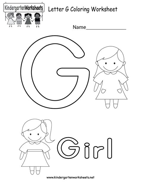worksheets for preschool letter g free printable letter g coloring worksheet for kindergarten