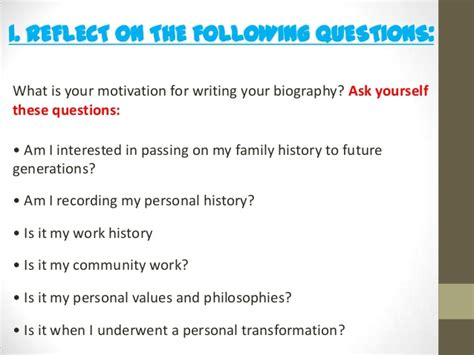 biography questions to ask an introduction to autobiography and biography