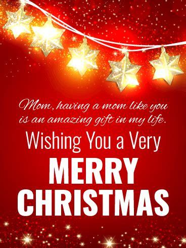 bright christmas star card  mother birthday greeting cards  davia