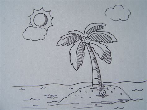 A Drawing Of A by Simple Nature Drawing Pictures Easy Nature Drawings