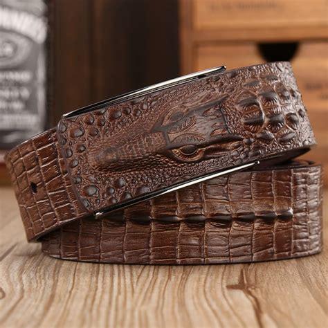 Gesper Rel Crocodille Leather Quality 2016 brand new crocodile high quality cowhide genuine leather belt for alligator mens belts