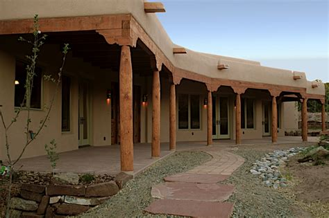 santa fe style house double r custom homes announces completed construction of