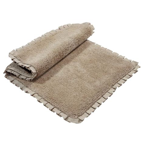 chesapeake merchandising verona pleat trim linen 2 ft chesapeake merchandising verona pleat trim linen 2 ft x 3 ft 4 in 2 bath rug set 45850