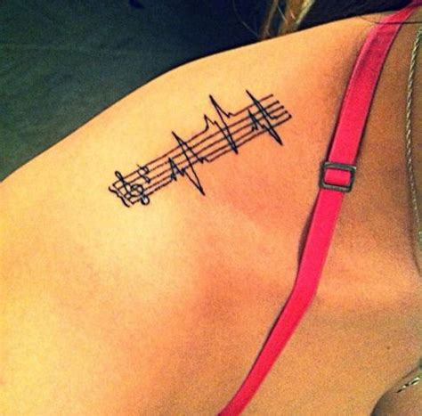 tattoo heartbeat music picture of music heartbeat tattoo idea