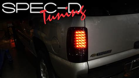 2003 chevy tahoe tail lights specdtuning installation video 2000 2006 chevy tahoe