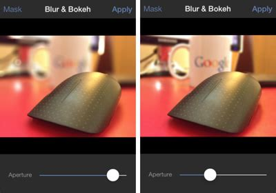 give  iphone   dslr  blur effect