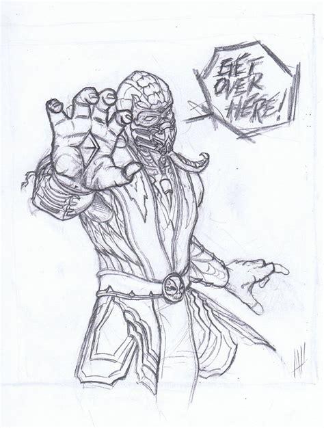 Mortal Kombat X Sketches by Mortal Kombat Scorpion Get Here Drawing