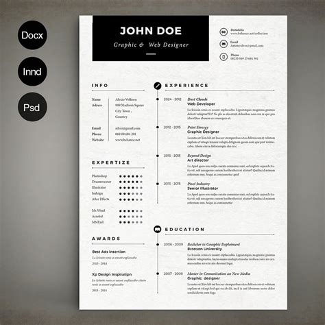 simple cv layout design 50 best cv resume templates of 2018 design shack