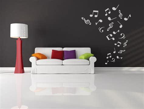 musical wall stickers tornado of musical notes wall stickers wall decal transfers ebay