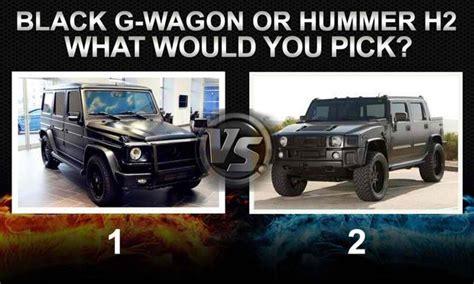 G Wagon Vs Jeep by Black G Wagon Vs Hummer H2 Car Talk Nigeria