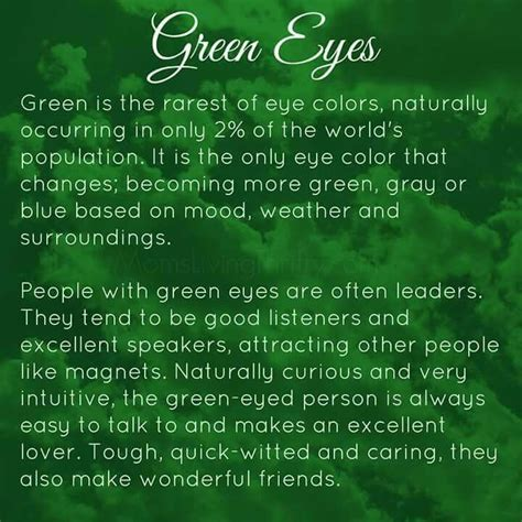 Facts About Green | 25 best ideas about green eyes facts on pinterest blue