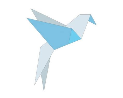 Origami Blue Bird - exquisite origami bluebird vector graphic welovesolo