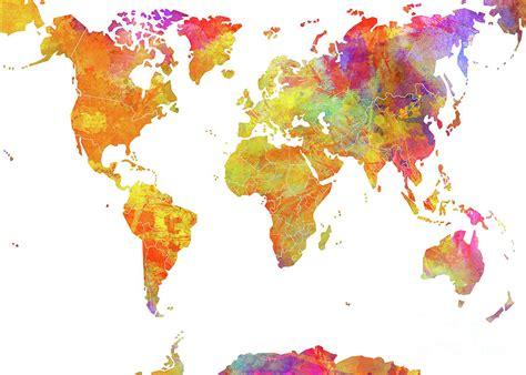 world color world map color digital by justyna jbjart