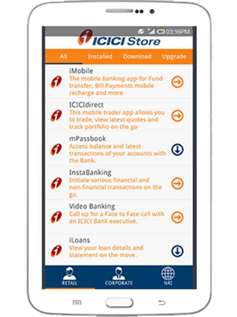 icici bank mobile banking apps icici store icici mobile banking